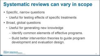 Basic Steps and Procedures for a Campbell Systematic Review