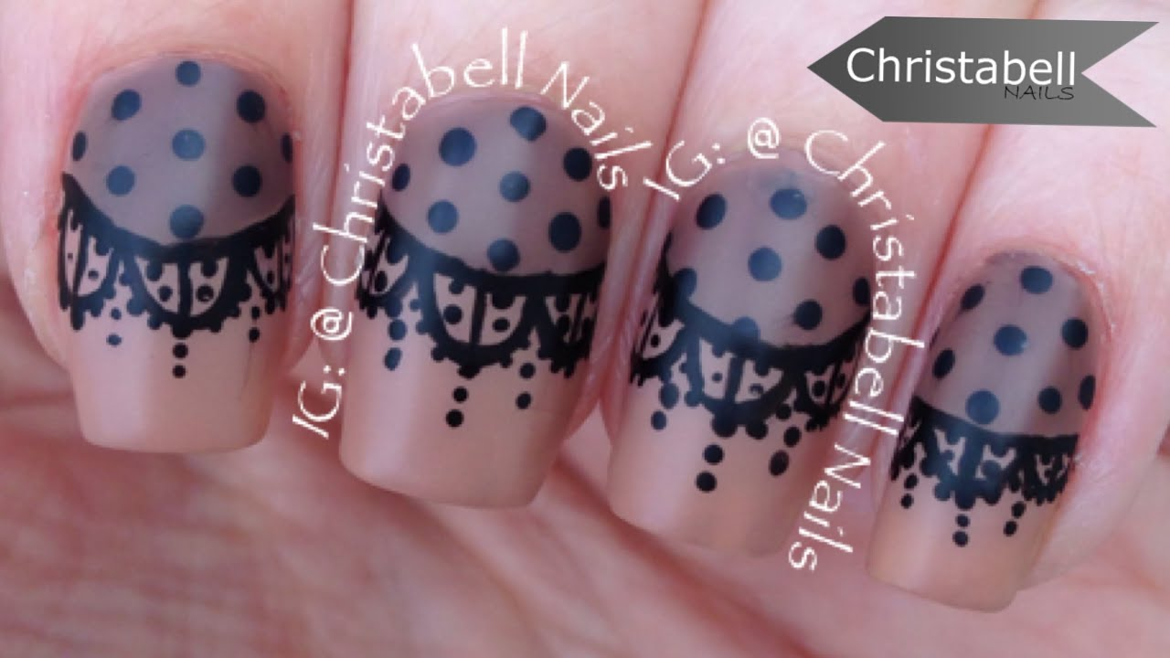 Christabellnails lace nail art tutorial youtube prinsesfo Images