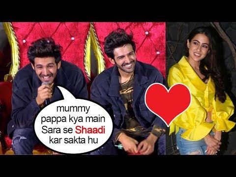 Kartik Aryan's CUTE Reaction Asking His Parents About MARRYING Sara Ali Khan In Front of Media