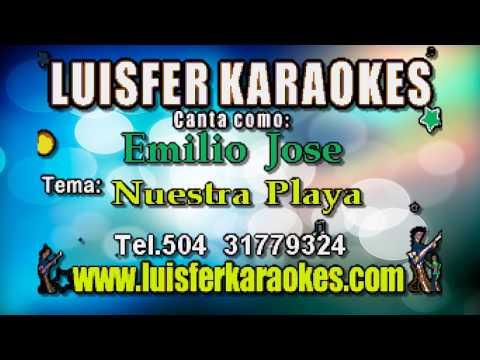Emilio Jose  - Nuestra Playa - Karaoke full