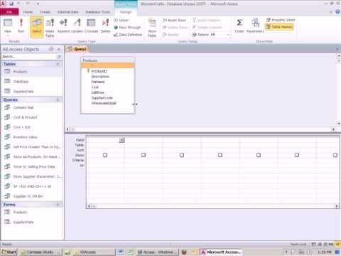 Office 2010 Class #45 Creating Queries In Access (16 Examples