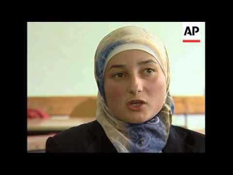 Kosovo students defy school ban on wearing Islamic headscarf