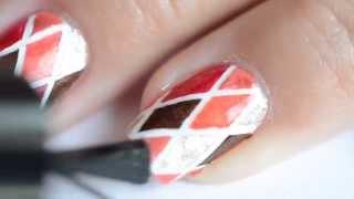 Nail art losanges automnales Thumbnail