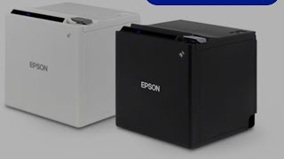 Epson Tm-m30 WHITE COLOUR pos printer UNBOXING with wireless and bluetooth and NFC