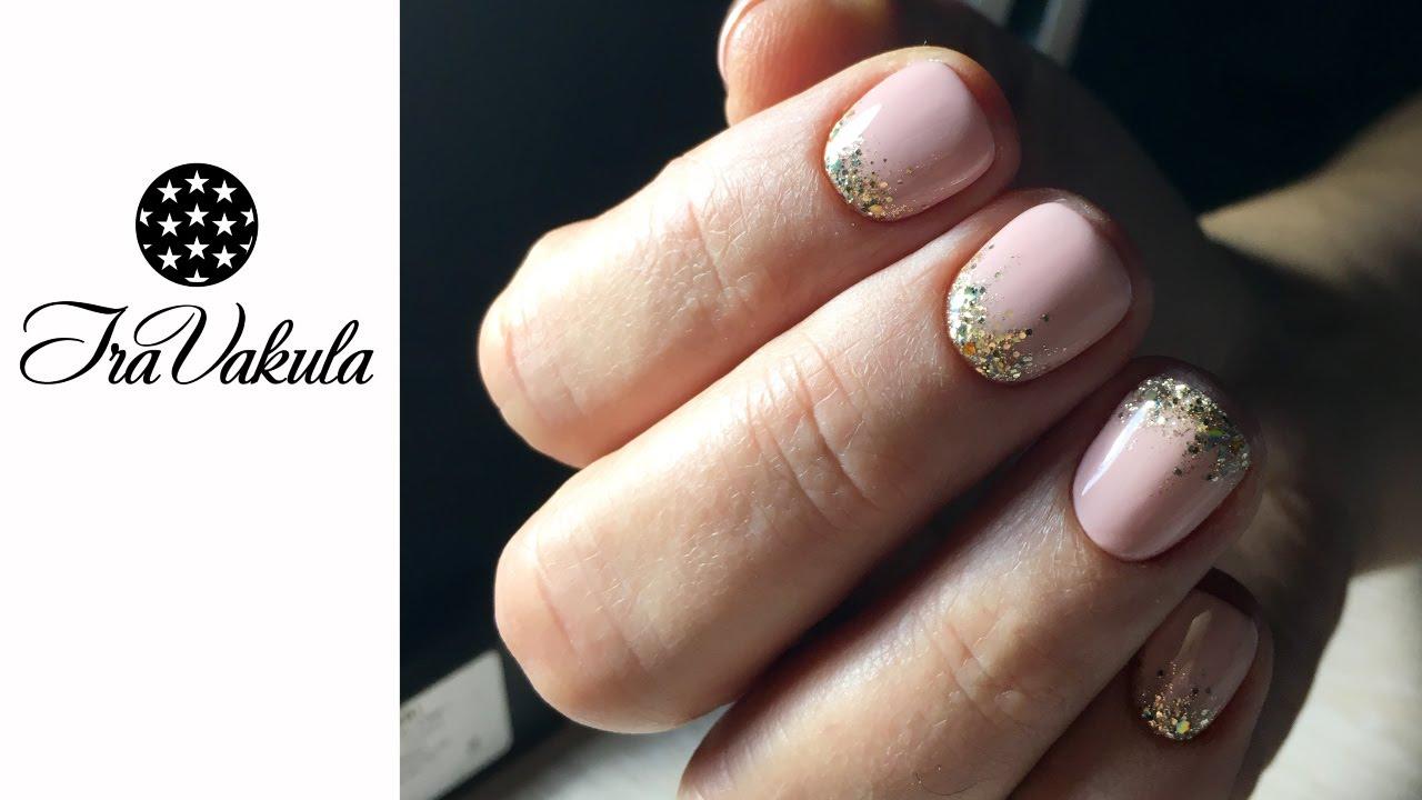 Дизайн ногтей с серебром с золотом