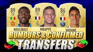 FIFA 20   SUMMER 2019 CONFIRMED TRANSFERS & RUMOURS   w/ Mbappe, Koulibaly & Varane