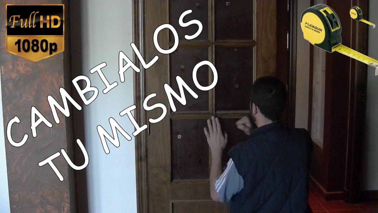 Como cambiar el cristal de una puerta youtube for Como cambiar una puerta de interior