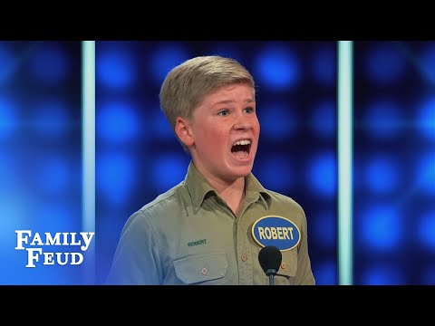 Say WHAT Robert? | Celebrity Family Feud