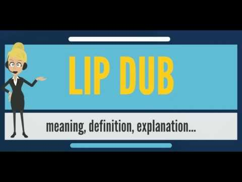 What is LIP DUB? What does LIP DUB mean? LIP DUB meaning, definition & explanation