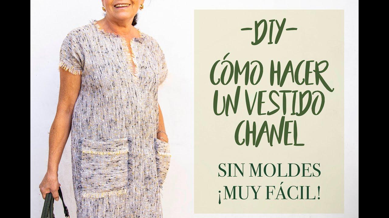 DIY. Cómo hacer vestido chanel. MUY SENCILLO DE HACER