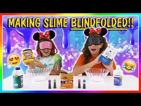 MAKING SLIME BLINDFOLDED CHALLENGE | We Are The Davises