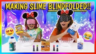 MAKING SLIME BLINDFOLDED CHALLENGE | We Are The Davises