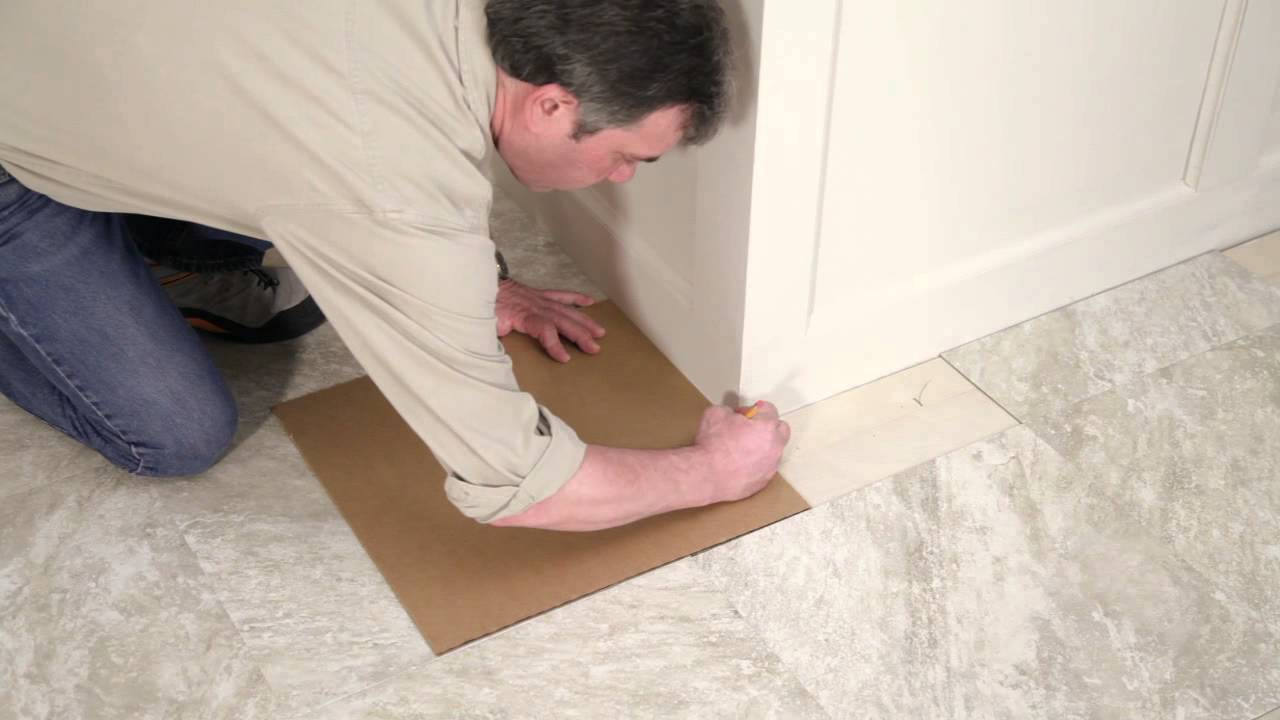 Installing your peel and stick vinyl tile floor youtube jameslax Images