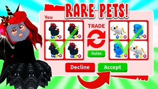 We Decided To Trade LEGENDARY PETS That Will NEVER Come Back In Adopt Me! (Roblox)