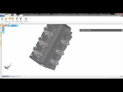 Edgecam 2016R1 | ACIS Solids - Multiple part performance improvements