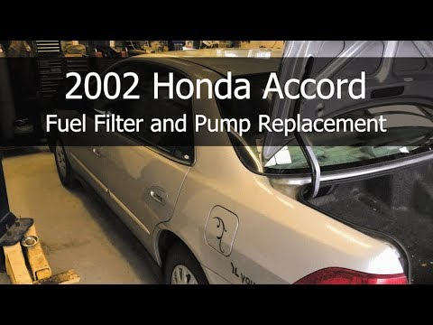 2002 Honda Accord Fuel Filter And Pump Replacement Youtube
