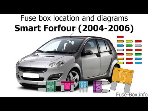 smart car fuse box fuse box location and diagrams smart forfour  2004 2006  youtube  smart forfour  2004 2006