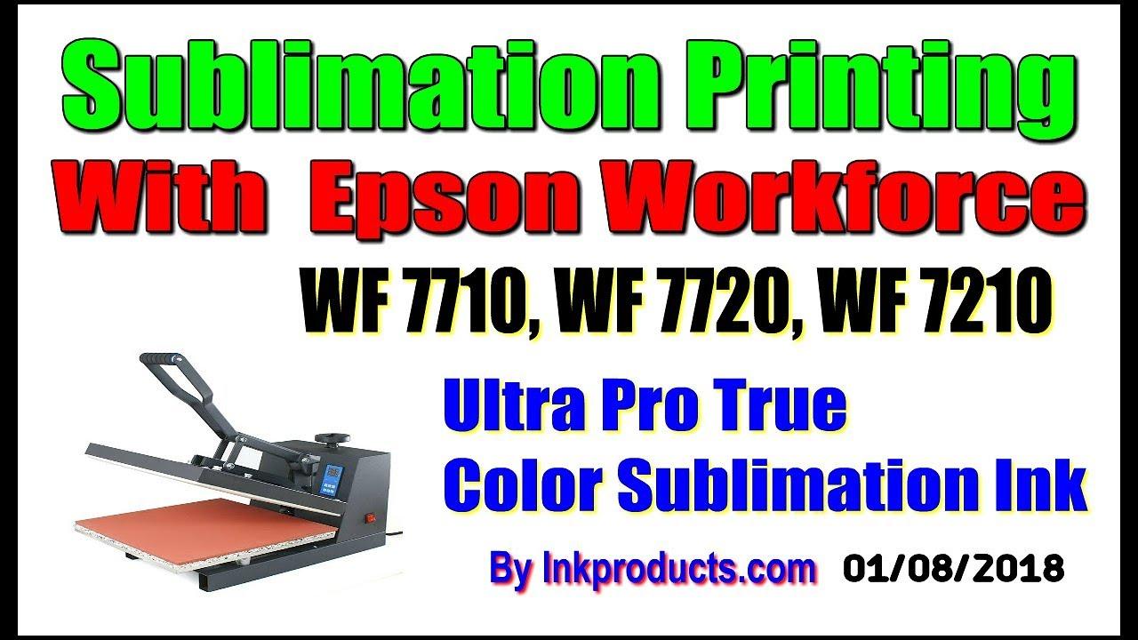 Sublimation CIS For Epson Workforce WF 7710, WF 7720, WF 7210 Wide Format
