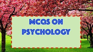 RRB||AIIMS||NEET Exam Questions and Answers MCQs on  Psychology