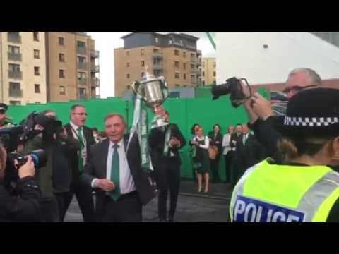Sir Tom Farmer with the Scottish Cup 2016