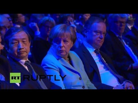 LIVE: Merkel and Jack Ma open CeBIT 2015