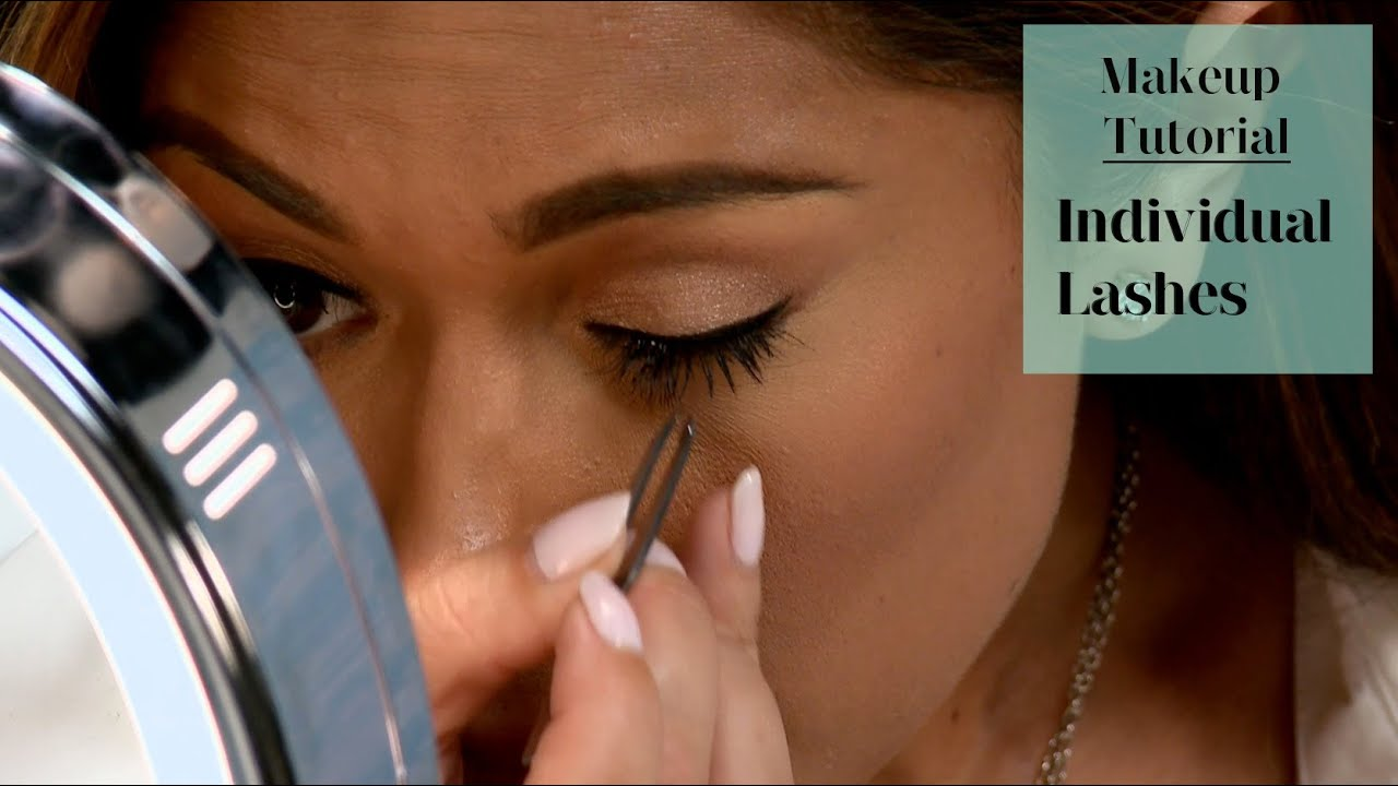 eabe1042a2d How to Apply Individual Lashes on Yourself - YouTube
