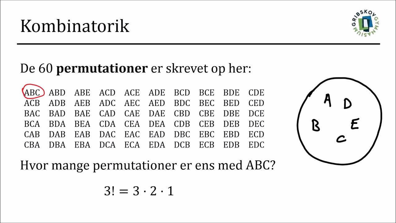 Kombinatorik 3 - Kombinationer