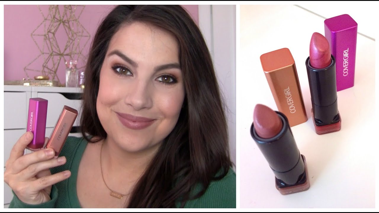 CoverGirl Colorlicious Lipstick Review - YouTube