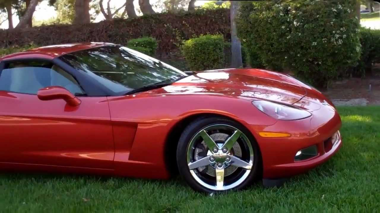 SOLD 2006 Orange Corvette Coupe for sale by Corvette Mike anaheim California - YouTube