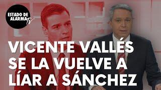 Vicente Vallés se la vuelve a liar al Gobierno de Sánchez ahora a cuenta de la bestial deuda pública