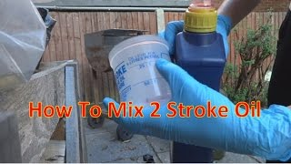 How To Mix 50:1 And 25:1 Petral | For 2 Stroke Engines