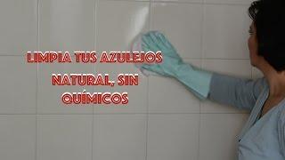 Cómo limpiar restos de jabón y cal de los azulejos