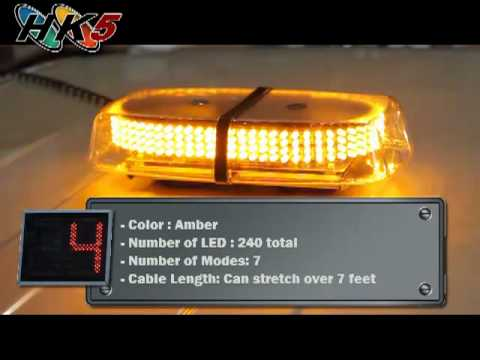240 Amber Led Mini Strobe Light Bar Youtube
