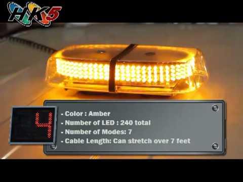 240 Amber Led Mini Strobe Light Bar