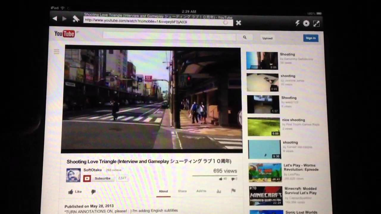 How To: Ipad & Youtube Annotations