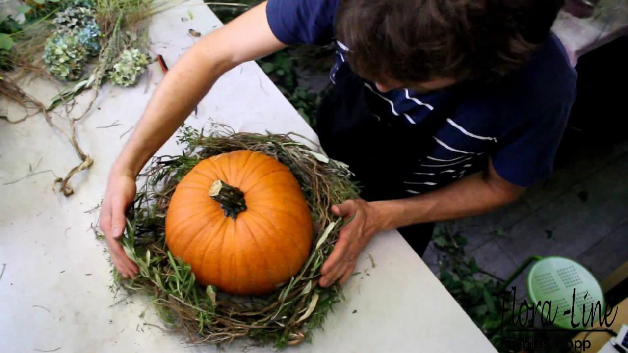 Einfache Herbstdeko Tisch diy: herbstdeko mit kürbis selber kreieren - youtube
