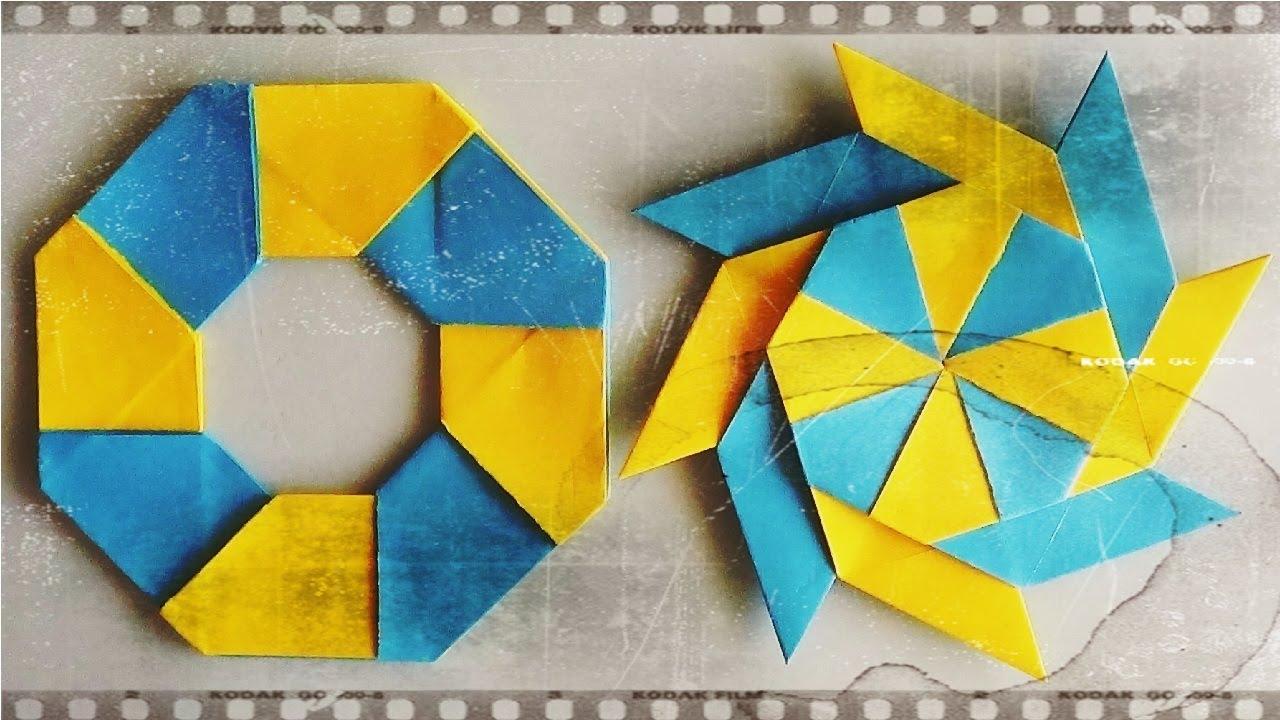 Shuriken origami transformer estrella ninja m gica - Origami de una estrella ...