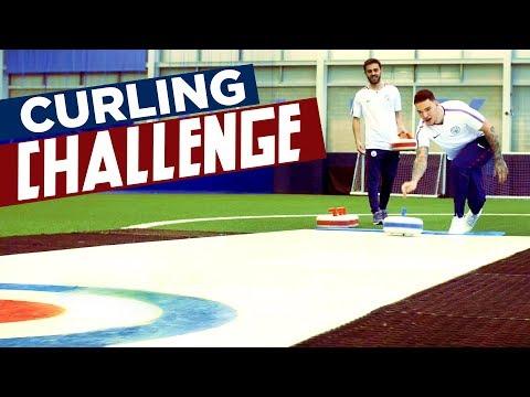 CURLING CHALLENGE! | Ederson v Bernardo | Man City Winter Olympics