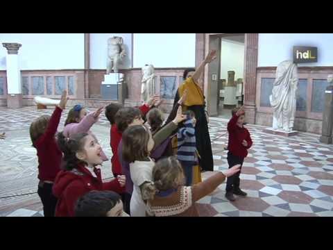 HDL El Museo Arqueológico se abre a los niños con fiestas de cumpleaños al estilo romano