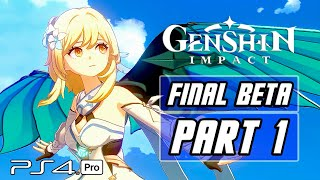 Genshin Impact - Final Closed Beta Gameplay Walkthrough PART 1 - No Commentary (PS4 PRO)
