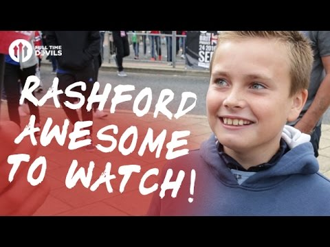 Rashford: Awesome To Watch! | Manchester United 4-1 Leicester City | FANCAM