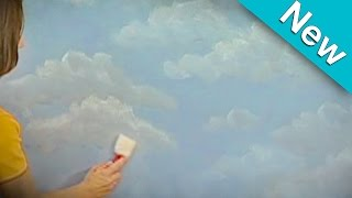 NEW! Cloud Technique How To Faux Finish Painting by The Woolie (How To Paint Walls) #FauxPainting