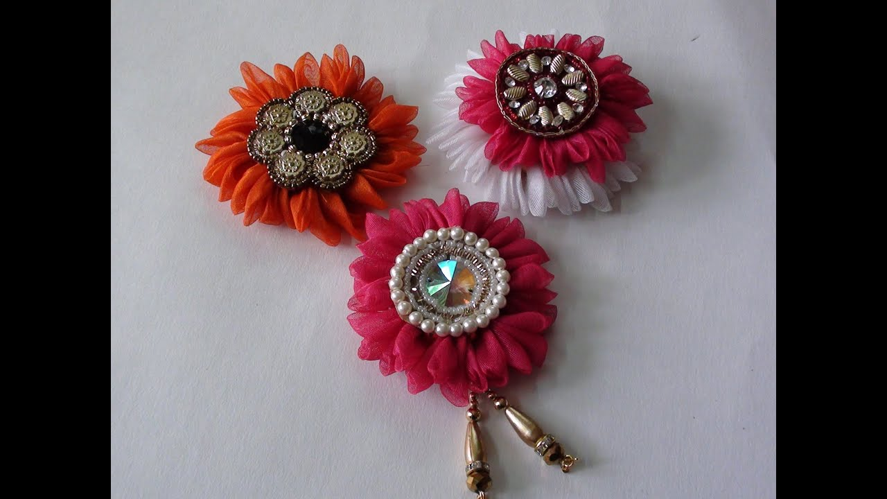 Do it yourself fabric flower brooch youtube do it yourself fabric flower brooch mightylinksfo