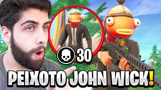 O PEIXOTO JOHN WICK FAZENDO 30 KILLS CONTRA SQUADS! - FORTNITE thumbnail