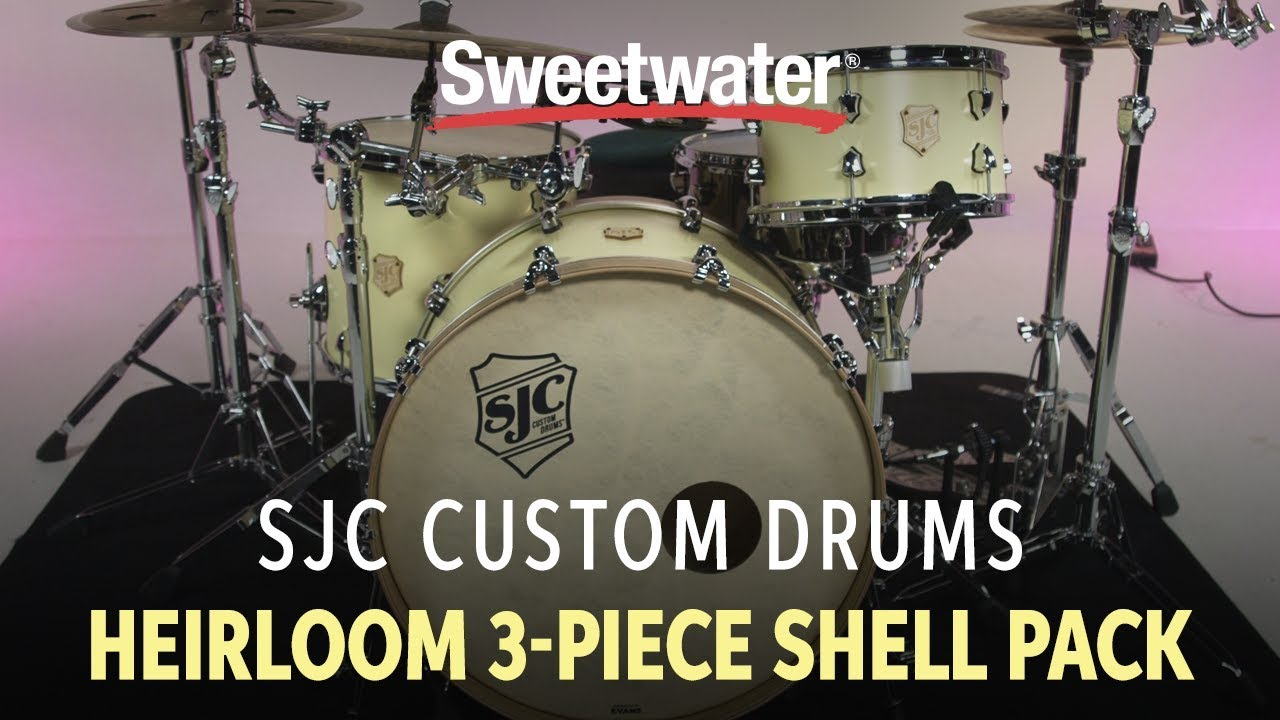 SJC Custom Drums Heirloom 3-Piece Shell Pack Review