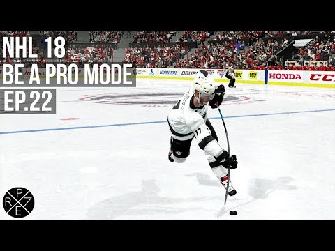 NHL 18 Be A Pro - Los Angeles Kings vs Ottawa Senators Ep.22 (Xbox One)