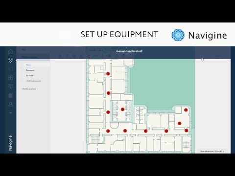 How To Set Up Equipment For Indoor Navigation System  Video Manual