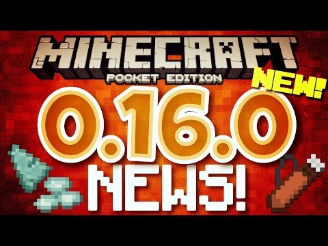 ✔️Minecraft PE 0.16.0 - UPDATE NEWS // Water temple, guardians, and MODS FOR IOS?! [MCPE 0.16.0]