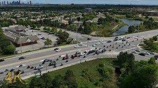 Mississauga: Mob of 100 bikers doing wheelies before crash 9-11-2016