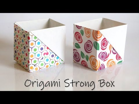 How to Make a Strong Box from Paper | Easy Origami Tutorial